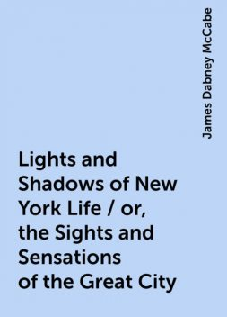Lights and Shadows of New York Life / or, the Sights and Sensations of the Great City, James Dabney McCabe