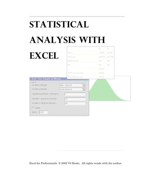 Statistical Analysis With Excel, vijay