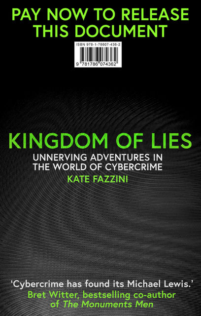 Kingdom of Lies, Kate Fazzini