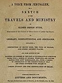 A Voice from Jerusalem Or, A Sketch of the Travels and Ministry of Elder Orson Hyde, Orson Hyde