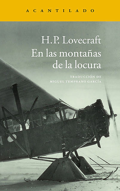 En las montañas de la locura, Howard Philips Lovecraft