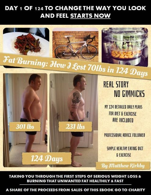 Fat Burning: How I Lost 70lbs In 124 Days, Matthew Kirkby