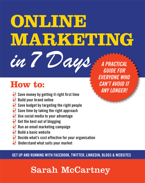Online Marketing in 7 Days, Sarah McCartney