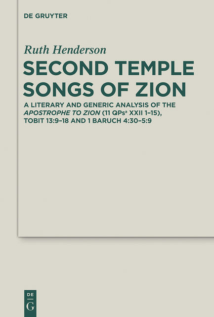 Second Temple Songs of Zion, Ruth Henderson
