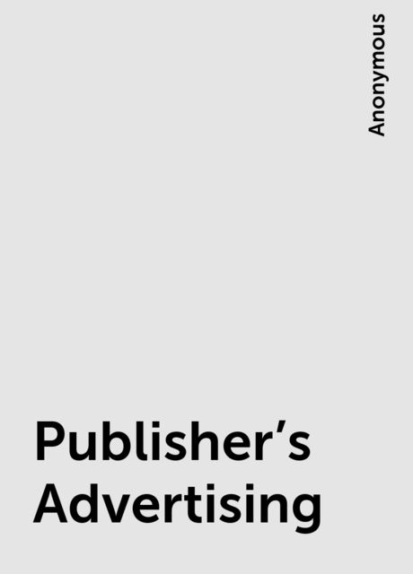 Publisher's Advertising,