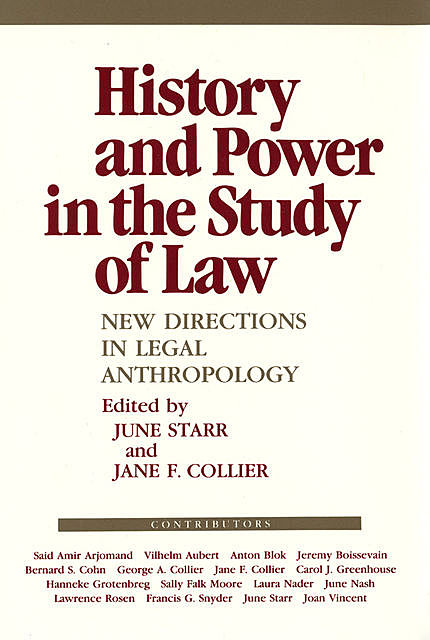 History and Power in the Study of Law, June Starr