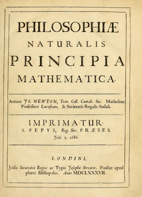 Philosophiae Naturalis Principia Mathematica (Latin Version), Sir Isaac Newton