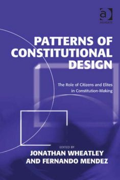 Patterns of Constitutional Design, Jonathan Wheatley