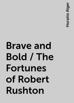 Brave and Bold / The Fortunes of Robert Rushton, Horatio Alger