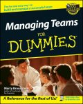 Managing Teams For Dummies, Marty Brounstein