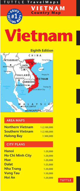Vietnam Travel Map Eighth Edition, Periplus Editions