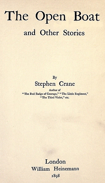 The Open Boat and Other Stories, Stephen Crane
