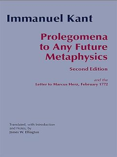 Prolegomena To Any Future Metaphysics, James, Immanuel, Kant, Ellington