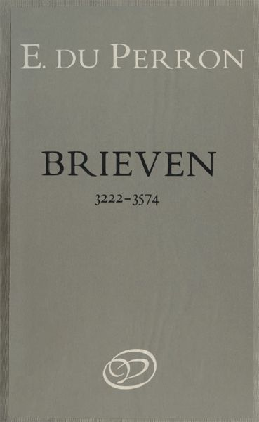 Brieven. Deel 7. 2 juli 1937–30 november 1938, E. du Perron