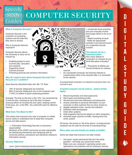 Computer Security (Speedy Study Guides), Speedy Publishing