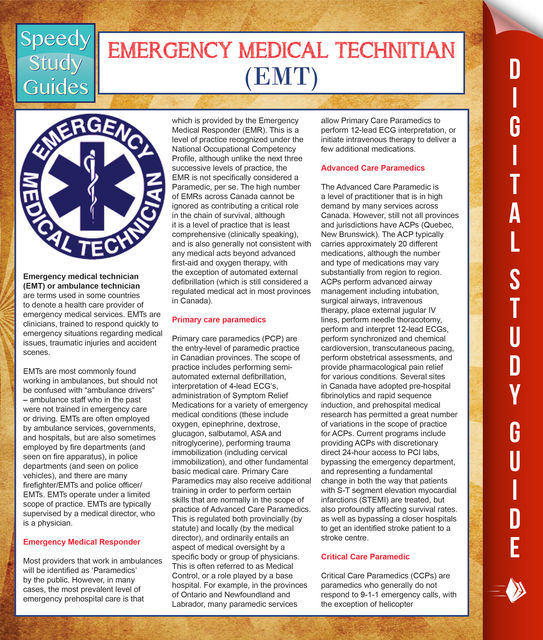 EMT- Emergency Medical Technician (Speedy Study Guides), Speedy Publishing