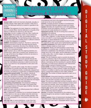 Criminal Law I (Definitions and Terminology) (Speedy Study Guide), Speedy Publishing