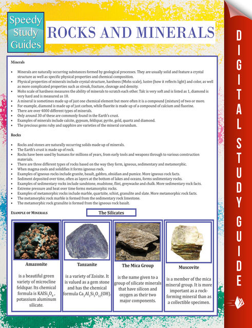 Rocks and Minerals (Speedy Study Guide), Speedy Publishing