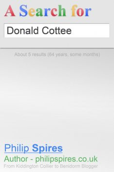 Search for Donald Cottee, Philip Spires