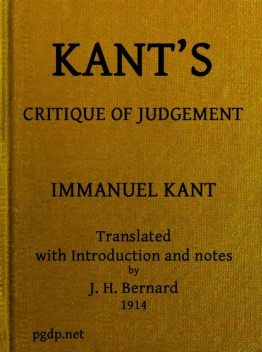 Critique of Judgment, Immanuel Kant