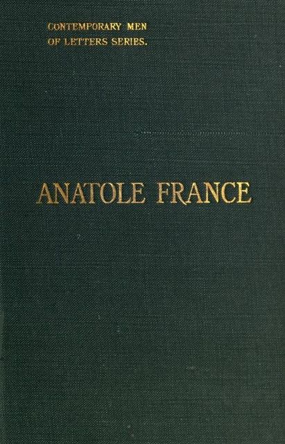 Anatole France, Georg Brandes