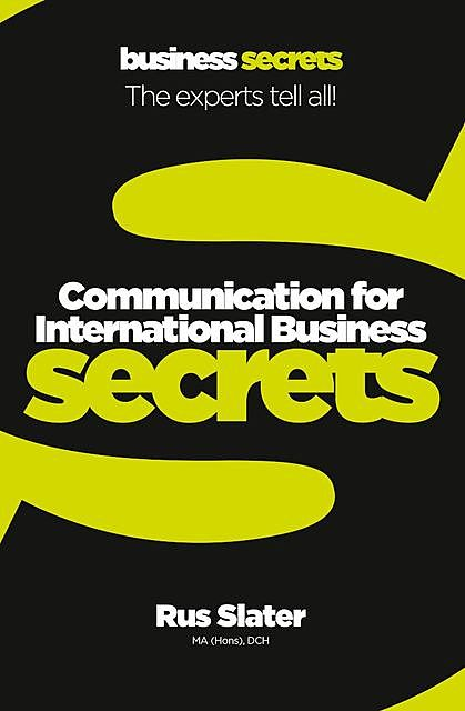 Communication For International Business, Rus Slater