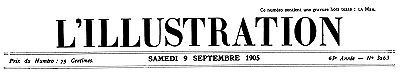 L'Illustration, No. 3263, 9 Septembre 1905, Various