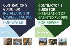 Contractor's Guide for Installation of Gasketed PVC Pipe for Water / for Sewer, Uni-Bell PVC Pipe Association