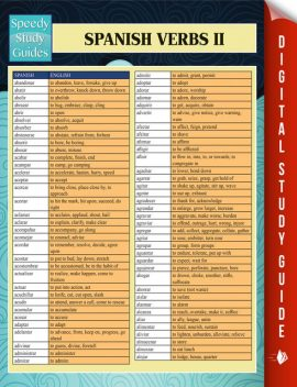 Spanish Verbs II (Speedy Language Study Guides), Speedy Publishing