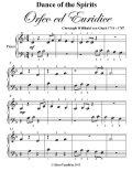 Dance of the Spirits Orfeo Ed Euridice Beginner Piano Sheet Music, Christoph Gluck