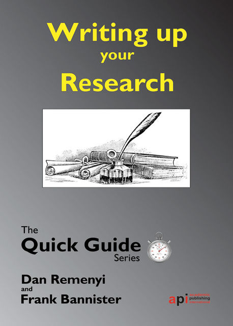 Writing up the Research, Dan Remenyi, Frank Bannister