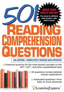 501 Reading Comprehension Questions, LearningExpress LLC
