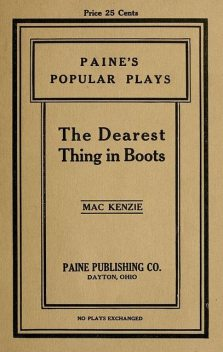 The Dearest Things in Boots, Edna I. MacKenzie