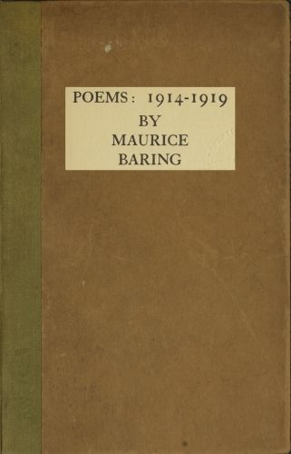 Poems, 1914–1919, Maurice Baring
