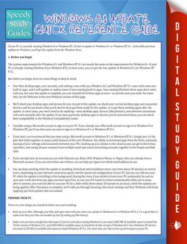 Windows 8.1 Update Quick Reference Guide, Marshall Koontz
