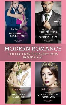 Modern Romance February Books 5–8, Jane Porter, Annie West, Louise Fuller, Kelly Hunter
