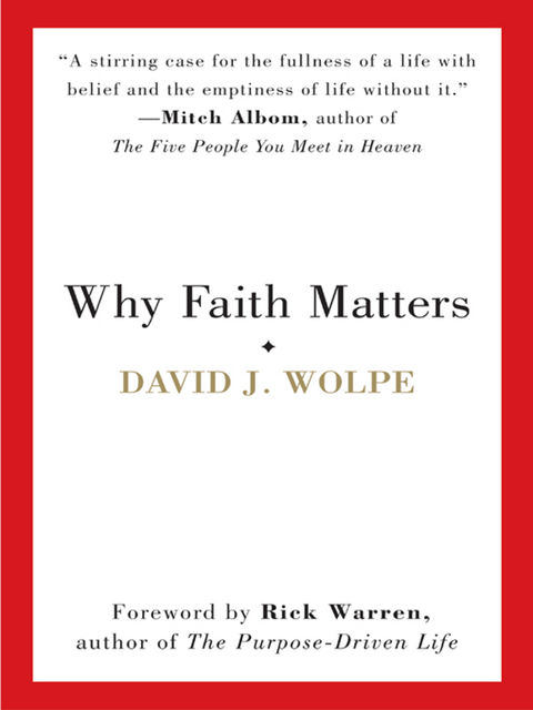 Why Faith Matters, David J. Wolpe