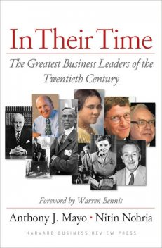 In Their Time, Nitin Nohria, Anthony J. Mayo