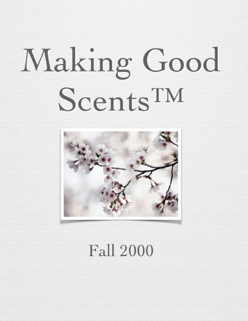 Making Good Scents™ – Fall 2000, Ololade Franklin