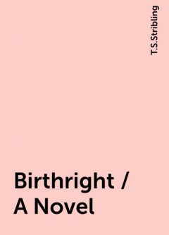 Birthright / A Novel, T.S.Stribling
