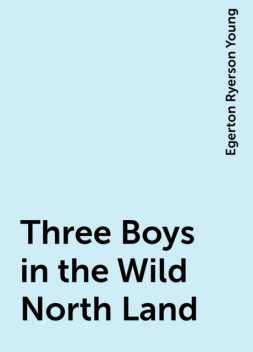 Three Boys in the Wild North Land, Egerton Ryerson Young