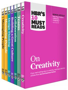 HBR's 10 Must Reads on Creative Teams Collection (7 Books), Clayton Christensen, Harvard Business Review, Marcus Buckingham, Adam Grant, Indra Nooyi