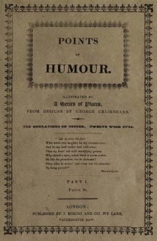Points of Humour, Part 1 (of 2), George Cruikshank