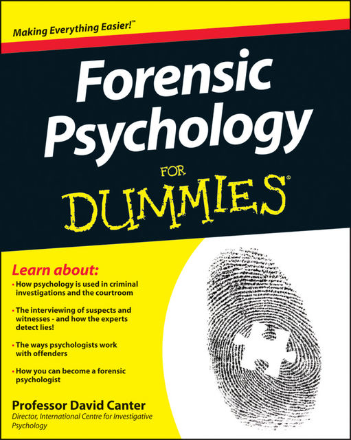 Forensic Psychology For Dummies, David Canter