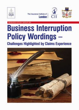 Business Interruption Policy Wordings, Damian Glynn, Harry Roberts