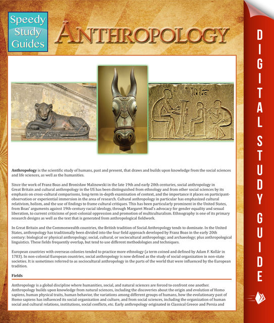 Anthropology (Speedy Study Guides), Speedy Publishing