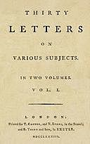Thirty Letters on Various Subjects, Vol. I (of 2), William Jackson