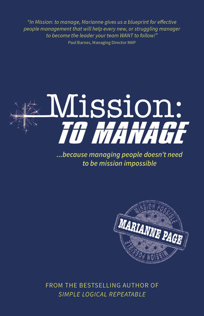 Mission: To Manage, Marianne Page