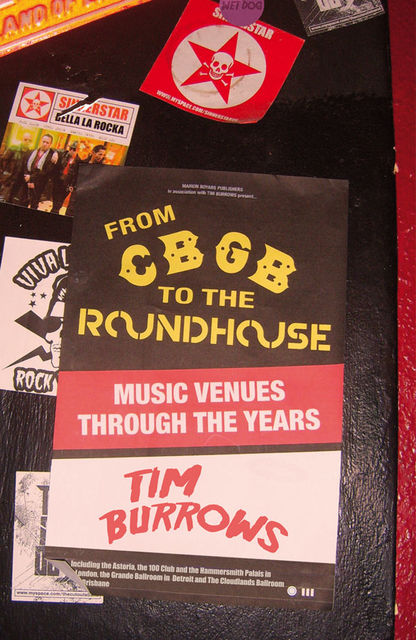 From CBGB to the Roundhouse, Tim Burrows