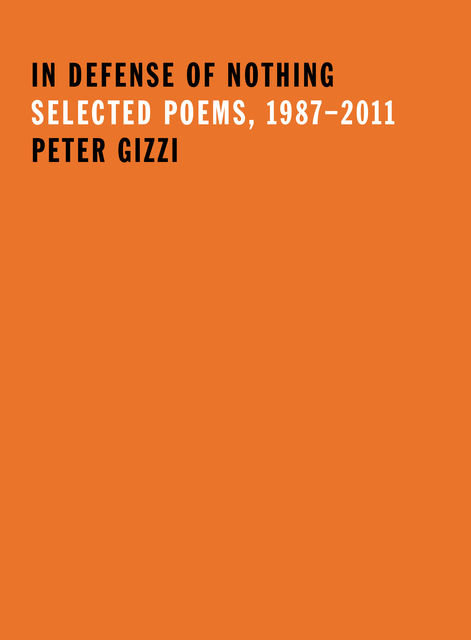 In Defense of Nothing, Peter Gizzi